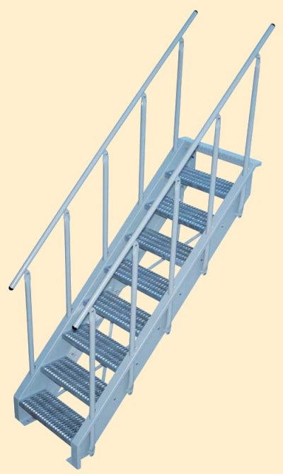 Lapeyre's NEW Conventional Stair with OSHA Compliant Stair Rails